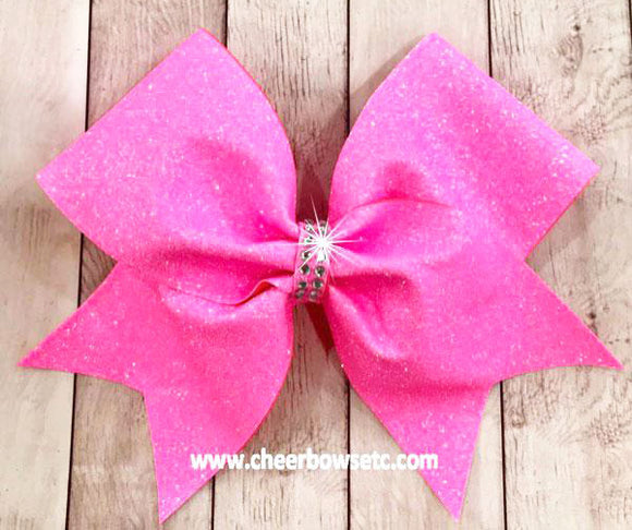 Hot Pink Awareness Cheerleading Bow