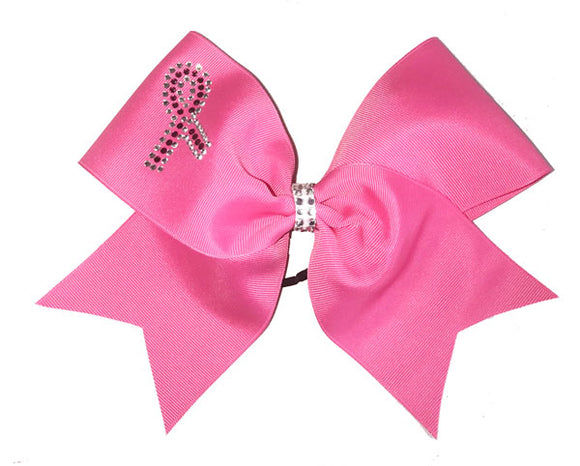Hot Pink Rhinestone Awareness Grosgrain Bow