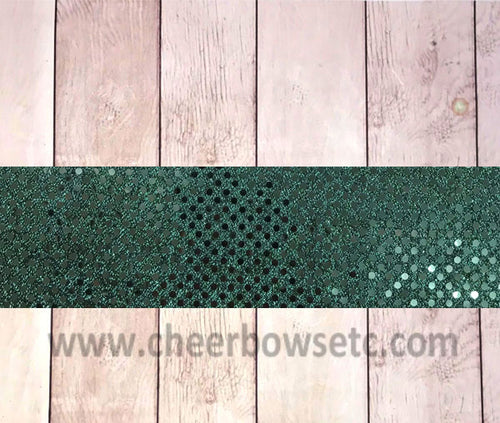 Hunter Green Sequins Iron On Bow Strip