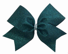 Load image into Gallery viewer, Hunter Green Glitter Bow