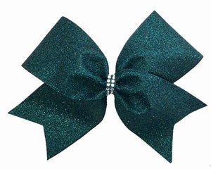 Hunter Green Glitter Bow