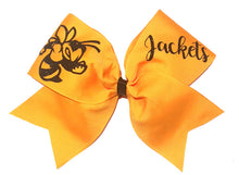 Load image into Gallery viewer, Yellow Jackets Cheer Bow