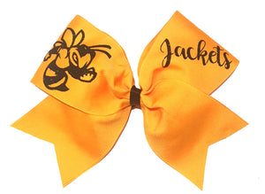 Yellow Jackets Cheer Bow