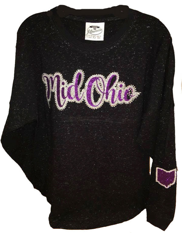 Black Game Day Glitter Shirt