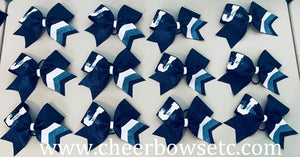 John Jay College of Criminal Justice cheerleading team bows