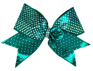 Teal Custom competition cheer bow