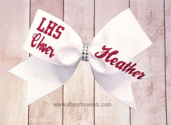LHS personalized cheer bow Lodi, CA