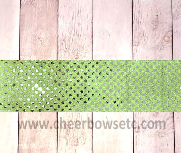 Lime Green Sequins Iron On Bow Strip