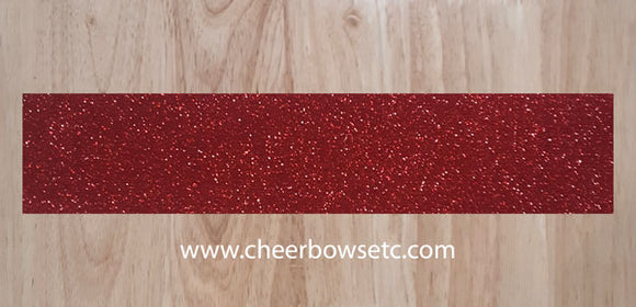Maroon Glitter Cheer Bow Strips for bow making