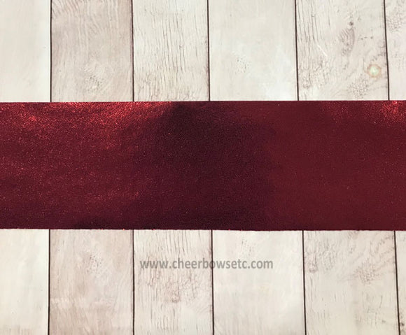 Maroon Bow Making Cut Fabric Strip