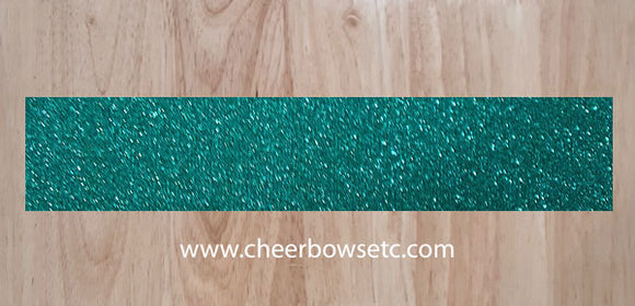 Mermain Emerald Pre-Cut Cheerleading Bow Strips