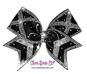 black mystique power x cheer bow