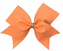 Load image into Gallery viewer, Neon Orange Glitter Bow