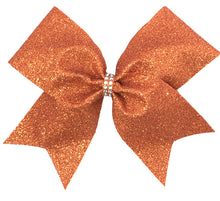 Load image into Gallery viewer, Orange Glitter Bow
