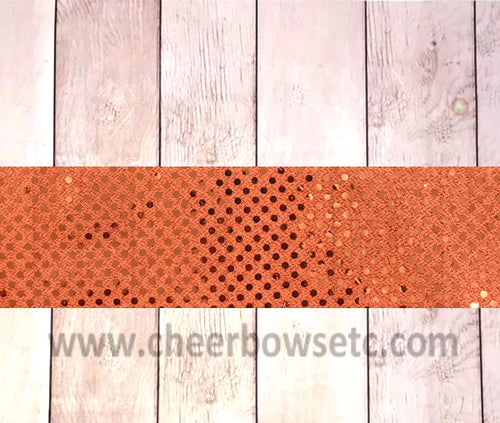 Orange Sequins Iron On Bow Strip