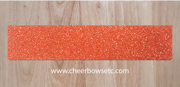 Orange Pre-Cut Orange Cheerleading Bow Strips
