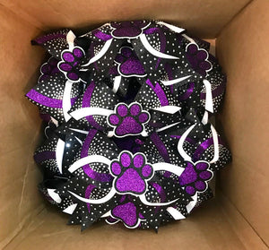 3D paw Rhinestone Bows packed and ready to ship
