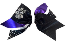 Load image into Gallery viewer, Purple Paw Print Rhinestone Bows