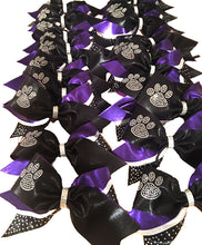 Load image into Gallery viewer, Team Rhinestone Paw Print Bows