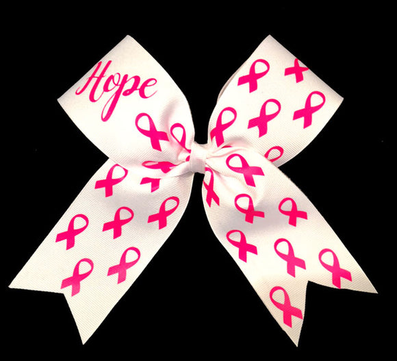 hot pink glittery awareness bow