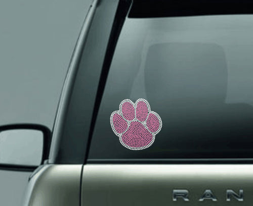 Pink Rhinestone Car Decal