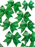 Emerald Green Glitter Team Bows