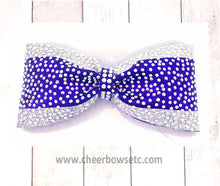 Load image into Gallery viewer, Princess Bow Purple & Silver with rhinestones