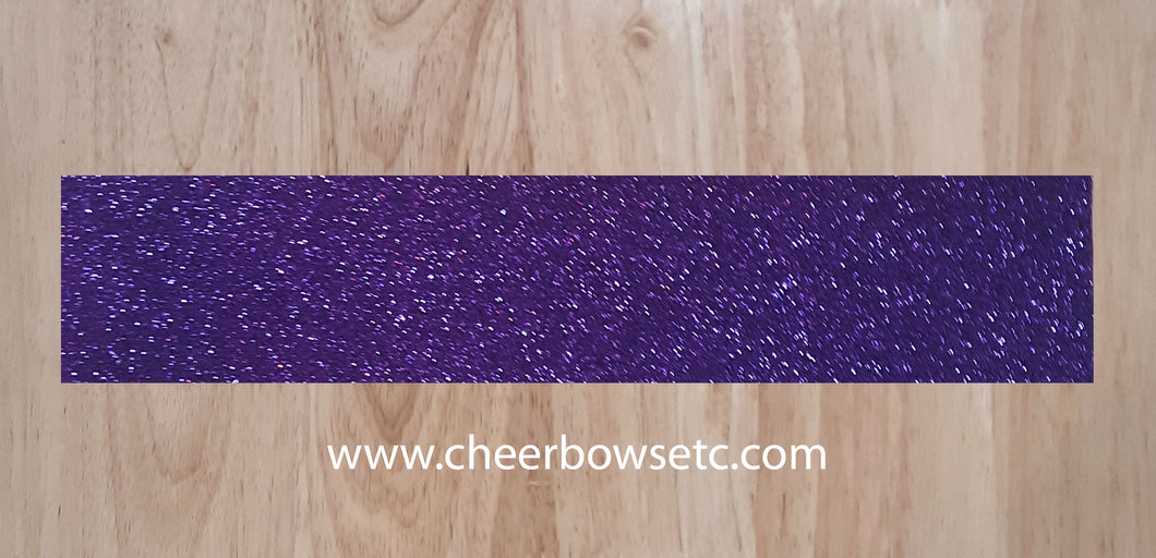 Purple Glitter Pre Cut Strips for cheerleading bows