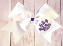 Load image into Gallery viewer, Paw Print Rhinestone Spirit Bow