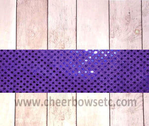 Purple Sequins Iron On Bow Strip