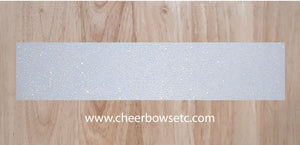 Rainbow White Glitter Cheer Bow Strip
