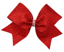 Load image into Gallery viewer, Red Glitter Bow