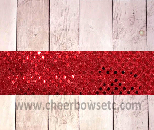 Iron On Red Sequins Bow Strip