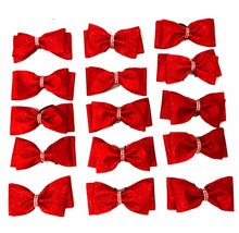 Load image into Gallery viewer, Red Glitter Tailless Bows