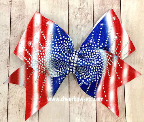 Red White & Blue America Bow