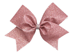 Rose Gold Glitter Bow