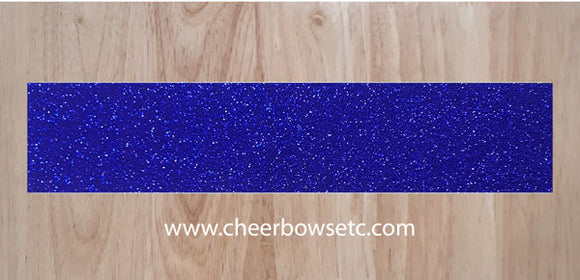Royal Blue Cheer Bow Glitter Bow Making Strips