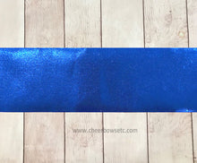 "Load image into Gallery viewer, Iron On Royal Blue Mystique Bow Making Strips 3"" X 28"""