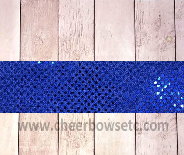 Royal Blue Sequins Iron On Bow Strip