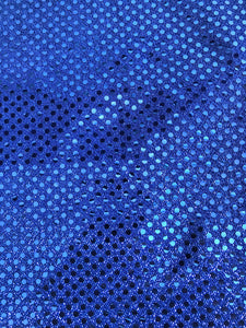 Royal Blue Sequin Fabric by the Yard-Clearance-15 yards available