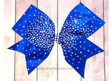 Load image into Gallery viewer, Royal Blue Rhinestone Crease Scatter Bow