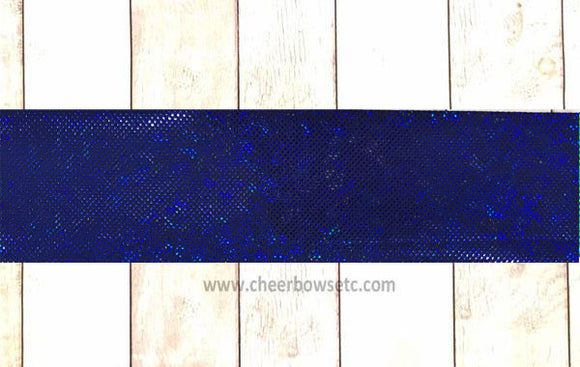 Royal/Navy Shatterglass Iron On Bow Strips