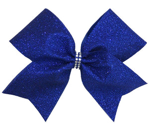 Royal Blue Glitter Bow