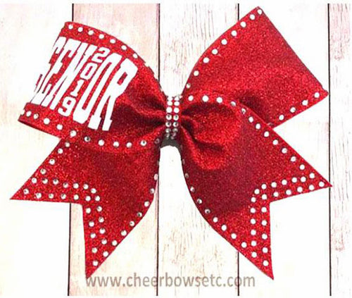 Red Senior School Bow