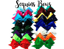 Load image into Gallery viewer, Sequins Cheerleading Bows in every color