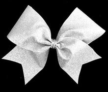Load image into Gallery viewer, Silver Glitter Bow