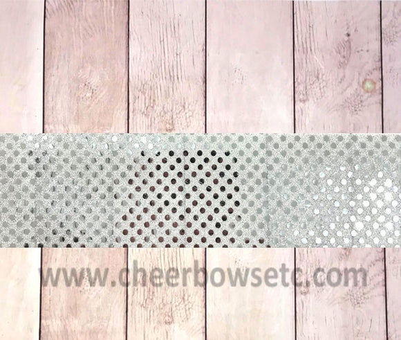Silver Sequins bow strip