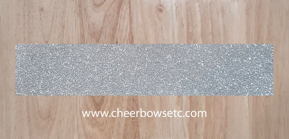 Silver Glitter Bow making Strips for cheerleading bows