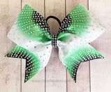 Sunray cheer bow in lime and black