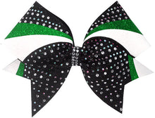 Load image into Gallery viewer, emerald kelly green cheerleading hair bow
